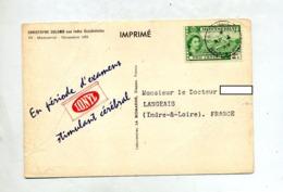 Carte Cachet  ? Sur Coton Reine Publicite Medicale Vue Cocotier - Montserrat