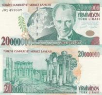 AC - TURKEY - 7th EMISSION 20 000 000 TL J 01 UNCIRCULATED - Turkije