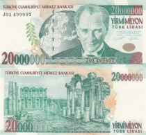 AC - TURKEY - 7th EMISSION 20 000 000 TL J 01 UNCIRCULATED - Turchia