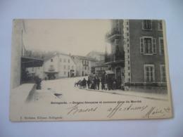 BELLEGARDE 01 AIN RHONE ALPES DOUANE FRANÇAISE ET ANCIENNE PLACE DU MARCHE CPA 1902 - Bellegarde-sur-Valserine