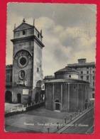 CARTOLINA VG ITALIA - MANTOVA - Torre Dell'Orologio E Rotonda S. Lorenzo - 10 X 15 - 1953 MESSAGGIO SOTTO FRANCOBOLLO - Mantova