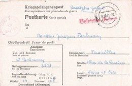 Guerre 1939 1945 Lettre Prisonnier Kriegsgefangenenpost Correspondance Prisonniers 1941 Balmary Lieutenant Camp Oflag VI - Postmark Collection (Covers)
