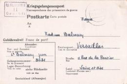 Guerre 1939 1945 Lettre Prisonnier Kriegsgefangenenpost Correspondance Prisonniers 1944 Balmary Lieutenant Camp Oflag VI - Postmark Collection (Covers)