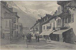 74 CHAMONIX MONT BLANC CALECHE RUE NATIONAL HOTEL DE L EUROPE CAFE RESTAURANT DE LA POSTE  Editeur GARDET 442 - Chamonix-Mont-Blanc