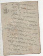 Acte De 1845 De 14 Pages Vaudenay Autun - Manuskripte