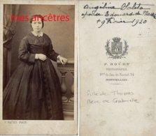 CDV En 1875- -Angélina SALETA, Fille DeThomas, épouse D'Edouard DE MASSIA, Mère De Gabrielle -par Rouet à Montpellier - Fotos