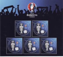 Bloc Feuillet N° F5050A - UEFA EURO 2016 – 3D (5 Timbres à 2,00 €) Neuf** - Sheetlets