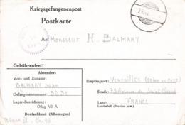 Guerre 1939 1945 Lettre Prisonnier Kriegsgefangenenpost Correspondance Prisonniers 1940 Balmary Lieutenant Camp Oflag VI - Postmark Collection (Covers)