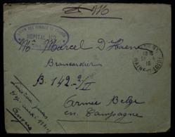 Angers 1916 Union Des Femmes De France Hôpital 102 Lettre Pour L'armée Belge En Campagne - Guerre De 1914-18