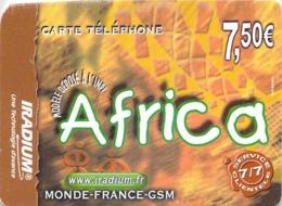 Carte Prépayée - IRADIUM - AFRICA  -  7.5 € - Andere Voorafbetaalde Kaarten