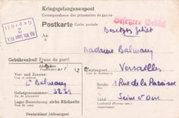 Guerre 1939 1945 Lettre Prisonnier Kriegsgefangenenpost Correspondance Prisonniers 1943 Balmary Lieutenant Camp Oflag VI - Postmark Collection (Covers)