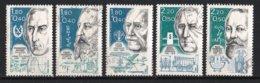 France 1986 : Timbres Yvert & Tellier N° 2396 - 2397 - 2398 - 2399 Et 2400 Avec Oblit. Rondes. - Used Stamps
