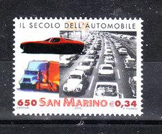 San Marino - 2000. Secolo Dell' Automobile E Trasporti. Cars Century And Transport. MNH - Automobili