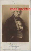 CDV  Pierre Jean DE BERANGER 1780/1857, Chansonnier Politique-photo Alliance Des Arts - Old (before 1900)