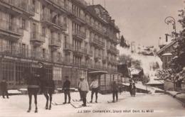 CPA  Suisse,  CHAMPERY, Grand Hotel Dent Du Midi,  Carte Photo, 1914 - VS Valais