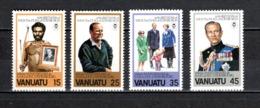 VANUATU  N° 624 à 627  NEUFS SANS CHARNIERE  COTE  5.25€  DUC D'EDIMBOURG - Vanuatu (1980-...)