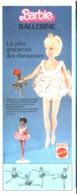 "PUB POUPEE "" BARBIE  "" "" BARBIE BALLERINE ""    1976  (22a ) - Barbie"