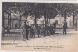 ARCUEIL: Ecole De Travaux Publics - Une Scéance DeTopographie. - Arcueil
