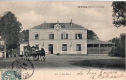 S2923 Cpa 91 Brunoy - La Gare - Brunoy