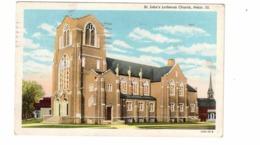 PEKIN, Illinois, USA, St. John's Lutheran Church,  1946 Linen Postcard, 2 Cent Postage Due Stamp From Canada - Verenigde Staten