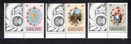 VANUATU  N° 628 à 630  NEUFS SANS CHARNIERE  COTE  5.20€  MARIAGE PRINCE CHARLES LADY DIANA - Vanuatu (1980-...)