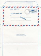 FRANCE - AEROGRAMME  SPECIMEN BLEU CONCORDE 3.10 POUR LE CENTRE D'ENSEIGNEMENT DE LA POSTE - CLERMONT FD 63 / TBS - Postwaardestukken