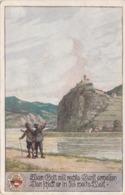SV-KARTE (Ostmark) … Wem Gott Will Rechte Gunst …, Gel.1921, Abgelöste Marke - Künstlerkarten