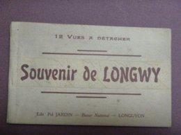 Carnet De 12 Cartes (complet) - SOUVENIR DE LONGWY - 12 Vues à Détacher - France