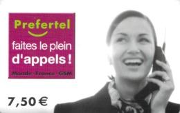 Carte Prépayée -PREFERTE -  7.5  € - Frankrijk