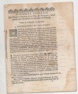 Assemblée Des Notaires De Provence1682 De 12 Pages Tâches D'humidité - Historische Documenten