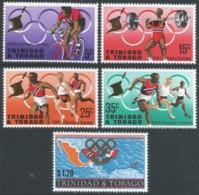 Trinidad & Tobago. 1968 Olympic Games. MH Complete Set SG 334-338 - Trinidad & Tobago (1962-...)