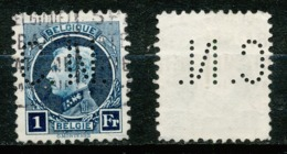 BELGIQUE - ALBERT 1er - 1929 - Perforé - OBLITERE - Perfins
