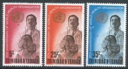 Trinidad & Tobago. 1968 20th Anniv Of World Health Organisation. MH Complete Set SG 328-330 - Trinidad & Tobago (1962-...)