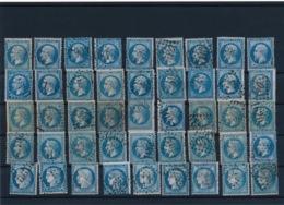 45 Bleus N° 22 X 18, N° 29 X 18, N° 60 X 9 B/TB. - Francia