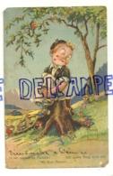 Petit Garçon. Traces De Rouge à Lèvres, (Paradis!), Champignons, Fleurs. Signée Minouvis. 1955 - Illustrateurs & Photographes