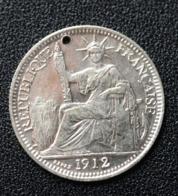 Jeton De Mariage Fait à Partir D'une 10 Cent Indochine Argent 1912 - Denier à épouser - Arras De Boda - Professionnels/De Société