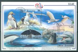 NEW ZEALAND - USED/OBLIT.- 1996 - ALBATROS + DOLFIN - TAIPEI 96 - Yv 111-  Lot 20617 - Blocs-feuillets