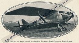 1926 : Le Bréguet 19, Type Record De Distance Des Raids Paris-Omsk Et Paris-Djask, Avion, Coupure Presse Originale - Documents Historiques