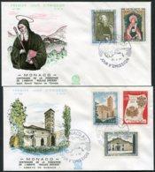15193 MONACO N°744/8 °  Centenaire De L'abbaye <<Nullius Dioecesis>>  P.J Du  29.4.68   TB - FDC