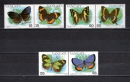VANUATU  N° 666 à 671  NEUFS SANS CHARNIERE  COTE  8.50€  PAPILLON ANIMAUX - Vanuatu (1980-...)