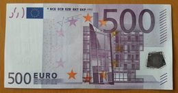 AUSTRIA 500 Euro 2002 Trichet UNC Code F005 B5 Serial Number N52045882977 - EURO