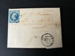 Aveyron.Lettre (De Prades) Avec Gros Chiffre 3614 De St Geniez - Poststempel (Briefe)