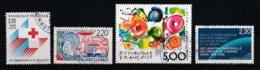 France 1988 : Timbres Yvert & Tellier N° 2555 - 2556 - 2557 Et 2559 Avec Oblit.rondes - Used Stamps