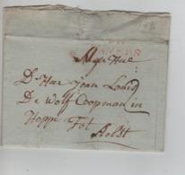 PR7517/ Précurseur LAC Daté Antwerpen 1796 Griffe Rouge Anvers > Aalst (Alost) - 1794-1814 (Periodo Frances)