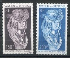 RC 14264 WALLIS ET FUTUNA N° 367 + 395 AUGUSTE RODIN NEUF ** MNH - Wallis Und Futuna