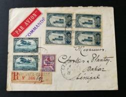 Maroc.Enveloppe.Recommandé De Casablanca Pour Dakar Sénégal - Marocco (1891-1956)