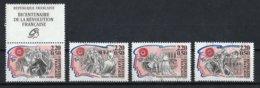 France 1989 : Timbres Yvert & Tellier N° 2564 + Vignette - 2565 - 2566 - 2567 - 2568 Et 2569 + Vignette Avec Oblit.ronde - Used Stamps