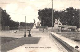 FR34 MONTPELLIER - MTIL 34 - Entrée Du Peyrou - Tramway - Pub Biscuite Petit Beurre - Animée - Belle - Montpellier