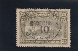 Maroc Poste Locale N° 60 Oblitéré Plein Centre , Un Pli - Maroc (1891-1956)