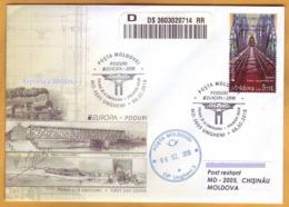 2018 Moldova Moldavie Europa-cept FDC Railway, Railway Bridge, Train, Gustave Eiffel, Train, Transport Used - 2018